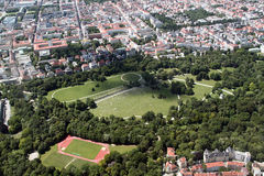 Vista aérea do jardim inglês, Munich Fotografia de Stock Royalty Free