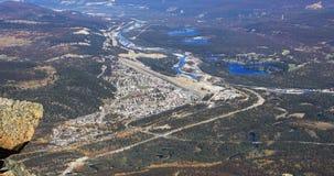 Vista aérea do jaspe, Alberta 4K filme