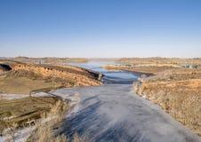 Vista aérea do lago da montanha Imagem de Stock