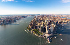 Vista aérea do Lower Manhattan New York City fotos de stock