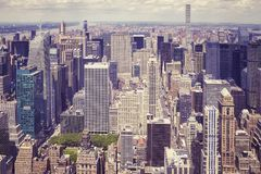 Vista aérea do Manhattan, New York, EUA Imagens de Stock Royalty Free