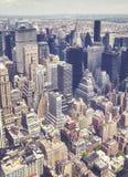 Vista aérea do Manhattan, New York, EUA Imagem de Stock Royalty Free