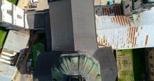 Vista aérea do monastério do Carmelites desencapado em Berdichev, Ucrânia vídeos de arquivo