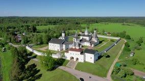 Vista aérea do monastério de Ferapontov, Rússia video estoque