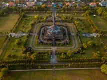 Vista aérea do monumento Denpasar Bali Indonésia de Bajra Sandhi fotografia de stock royalty free