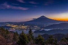 Vista aérea do mt fuji Imagem de Stock