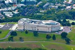 Vista aérea do museu do memorial de guerra de Auckland imagem de stock royalty free