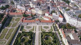 Vista aérea do palácio do Belvedere veia viena Wien Áustria video estoque