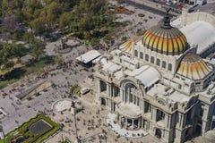 Vista aérea do palácio das belas artes foto de stock