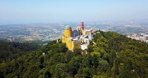 Vista aérea do palácio Sintra de Pena, Portugal Imagem de Stock