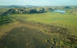 Vista aérea do parque nacional de Kakadu fotografia de stock