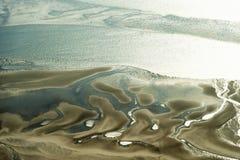 Vista aérea do parque nacional de mar de Schleswig-Holstein Wadden Imagem de Stock