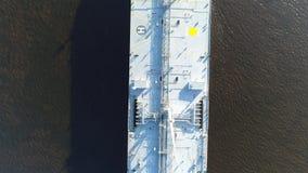 Vista aérea do petroleiro de óleo o Rio Delaware Philadelphfia