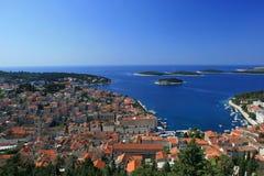 Vista aérea do porto imagens de stock royalty free