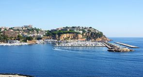 Vista aérea do porto de Sant Feliu de Guixols Imagem de Stock
