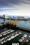 Vista aérea do porto em Savona, Itália Fotos de Stock Royalty Free