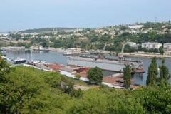 Vista aérea do porto industrial Fotos de Stock