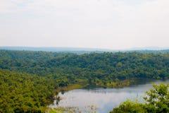 Vista aérea do rio Fotografia de Stock