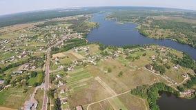 Vista aérea do rio atual vídeos de arquivo