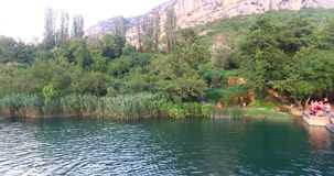 Vista aérea do rio de Krka filme