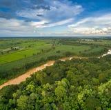 Vista aérea do rio do qui foto de stock