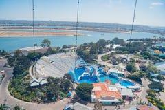 Vista aérea do SeaWorld famoso imagens de stock