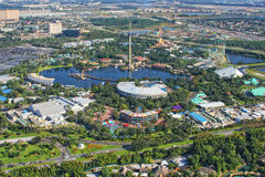 Vista aérea do SeaWorld, Orlando, Florida, EUA fotografia de stock royalty free
