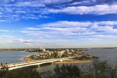 Vista aérea do subúrbio sul de Perth fotos de stock