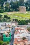 Vista aérea do templo do deus Zeus do olímpico no centro da cidade de Atenas Grécia Imagens de Stock Royalty Free