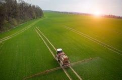 Vista aérea do trator Fotografia de Stock Royalty Free