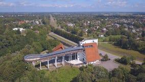 Vista aérea do trenó de Sigulda/Letónia filme