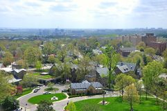 Vista aérea do Washington DC, EUA Foto de Stock