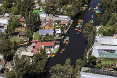 Vista aérea do xochimilco fotografia de stock royalty free