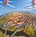 Vista aérea do zangão Imagem de Stock Royalty Free