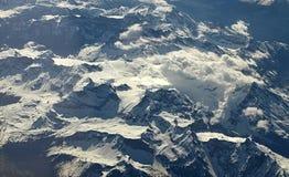 Vista aérea dos alpes imagens de stock