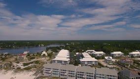 Vista aérea dos hotéis da praia de Florida Fotos de Stock Royalty Free