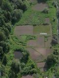 Vista aérea dos jardins Foto de Stock Royalty Free