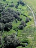 Vista aérea dos jardins Foto de Stock