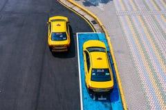 Vista aérea dos táxis em Taipei imagens de stock royalty free