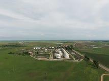 Vista aérea dos tanques de armazenamento do óleo Imagens de Stock Royalty Free