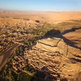 Vista aérea em Ait Ben Haddou em Marrocos Imagens de Stock Royalty Free
