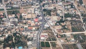 Vista aérea em distritos centrais de Israel Fotografia de Stock Royalty Free