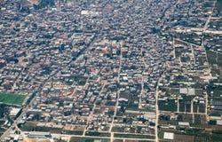 Vista aérea em distritos centrais de Israel Imagem de Stock