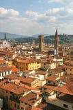 Vista aérea em Florença, Italy. fotografia de stock royalty free
