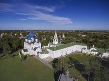 Vista aérea em kremlin em Suzdal, Rússia Imagem de Stock