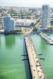 Vista aérea em Miami imagens de stock
