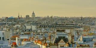 Vista aérea em Paris na luz da manhã Fotos de Stock Royalty Free