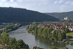Vista aérea em torno de Wertheim imagens de stock royalty free