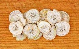 Vista aérea fatias secadas da banana do Plantain Foto de Stock Royalty Free