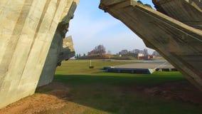 """Vista aérea fuerte de Kaunas noveno del †de la arquitectura monumental """"- monumento de la Segunda Guerra Mundial almacen de video"""